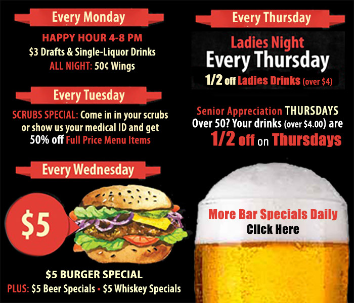 Daily Bar Specials