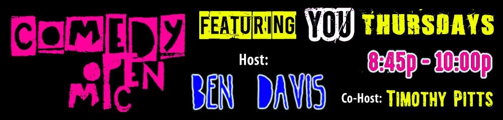 Comedy Open Mic Thursdays 8:45